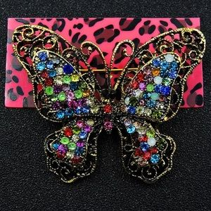 "🦋Betsey Johnson "" Colorful Butterly Brooch"